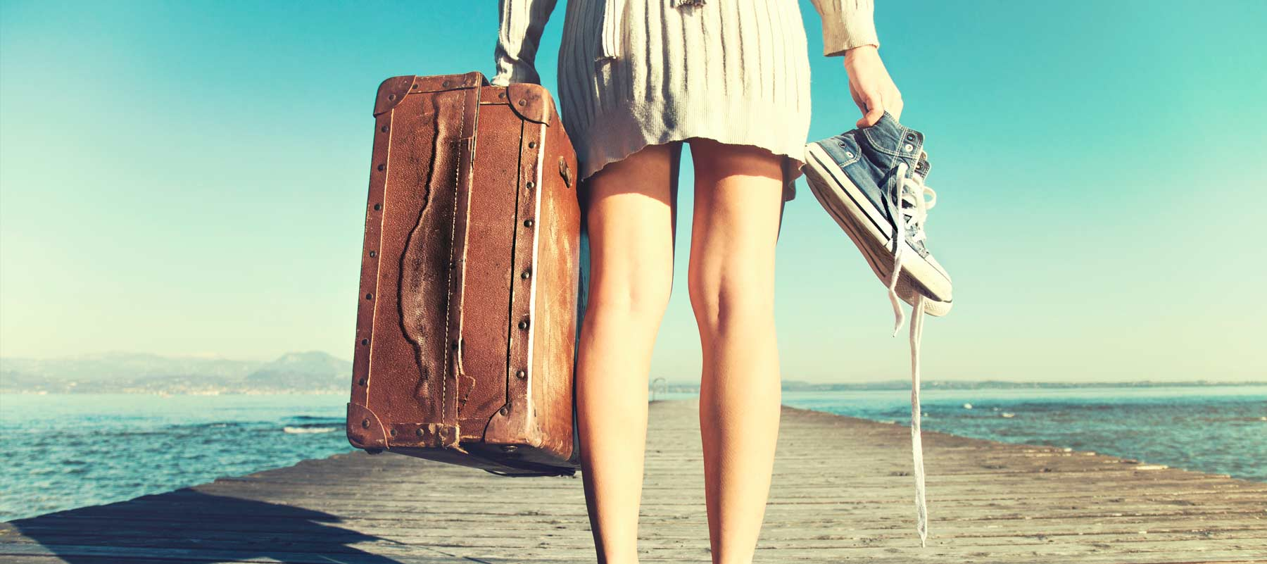 Suitcase-Barefoot-Woman